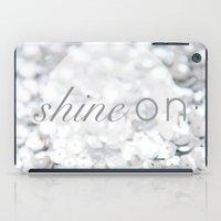 Shine ON Typography Print iPad Case