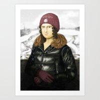 Mona Lisa In Winter Art Print