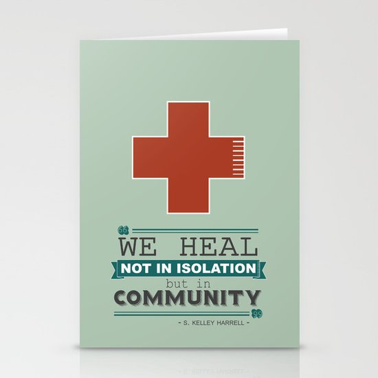 Healing in Community Stationery Card