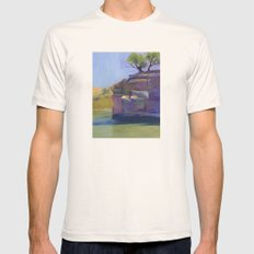 River Bend Mens Fitted Tee Natural SMALL