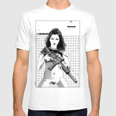Apollonia Saintclair 531… Mens Fitted Tee White SMALL