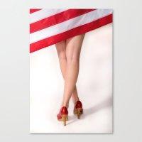 American Legs Canvas Print