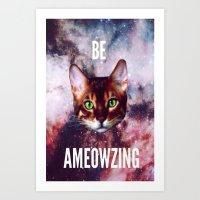 be ameowzing Art Print