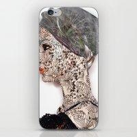 butterfly woman iPhone & iPod Skin