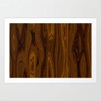 Wood Brown Art Print