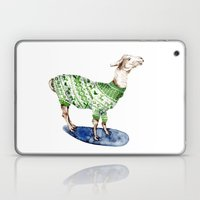 Llama In A Green Deer Sw… Laptop & iPad Skin