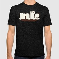 Make Mens Fitted Tee Tri-Black SMALL
