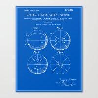 Basketball Patent - Blueprint Canvas Print