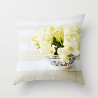 Spring in a cup Throw Pillow