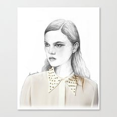 stud collar Canvas Print