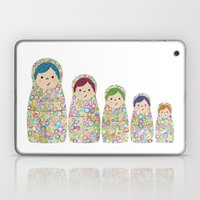 Rainbow Matryoshka Nesting Dolls Laptop & iPad Skin