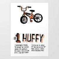 All My Bikes: 1, Departm… Art Print