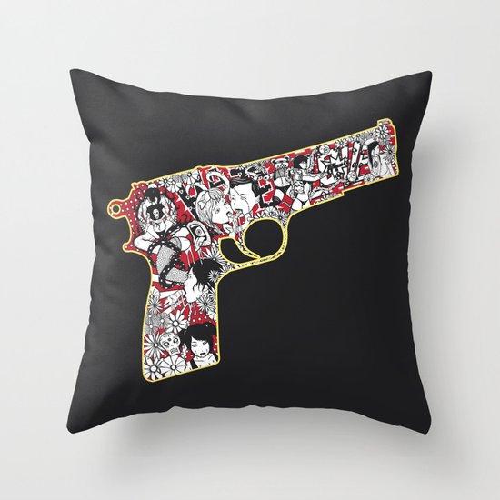 Love gun Throw Pillow