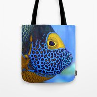 Blue-faced Angelfish Tote Bag