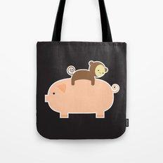 Baby Monkey (Black Bg) Tote Bag