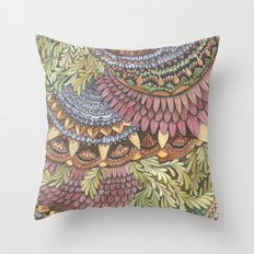 Quilted Forest: The Owl Throw Pillow