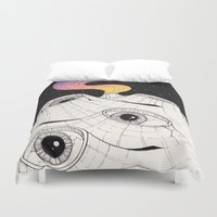 Planets Have Ears Duvet Cover