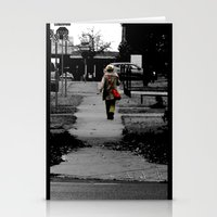 Woman Walking Stationery Cards