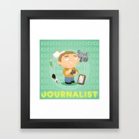 Journalist Framed Art Print