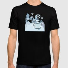 penguins Mens Fitted Tee SMALL Black