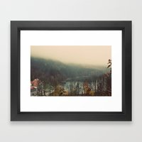 Overlooking The Lake Col… Framed Art Print
