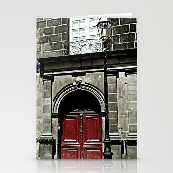 Paris 3 : The Red Door Stationery Card