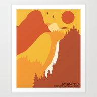 Nevada Falls Yosemite Na… Art Print