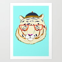 Rad Tiger Art Print