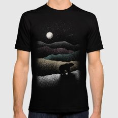 Wandering Bear MEDIUM Mens Fitted Tee Black