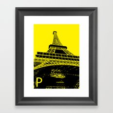 Paris P Framed Art Print