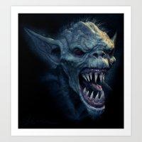 Screaming Demon Art Print