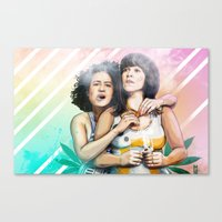 These Are The Broads You… Canvas Print