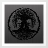 romkalah, black Art Print