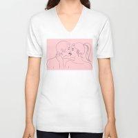 Kiss in Pink Unisex V-Neck