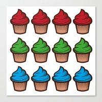 RGB Cupcakes Canvas Print
