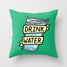 Drink Water Throw Pillow