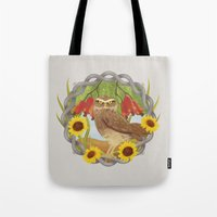 cashew and owl Tote Bag