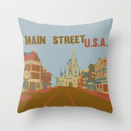 Main Street Usa..  Throw Pillow