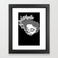 blazing ape Framed Art Print