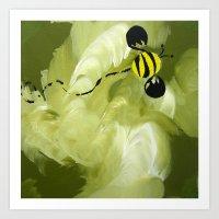 Buzzy Bee Art Print