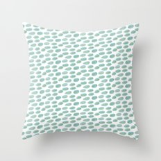 DOTS BLUE AND YELLOW  WATERCOLOUR Throw Pillow