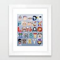 P Is For Pixar (Pixar Al… Framed Art Print