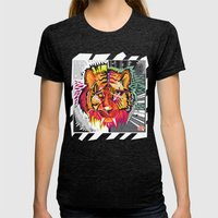 Eye Of The Tigah Womens Fitted Tee Tri-Black SMALL