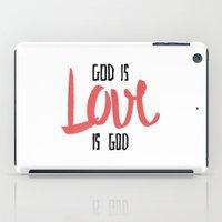 God is LOVE is God iPad Case