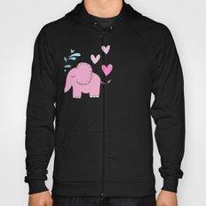 Elephant Love Walk Pink Hoody