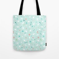 Birds in Silhouette on light blue Tote Bag
