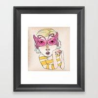 Butterfly Glasses Framed Art Print