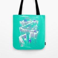 Penguins (flat, palette swap) Tote Bag