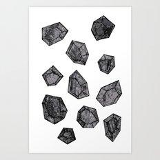 Black Diamonds Art Print