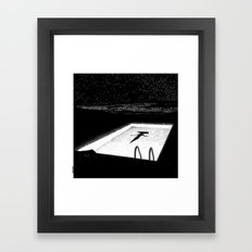 asc 593 - Le silence des cigales (The midnight lights) Framed Art Print